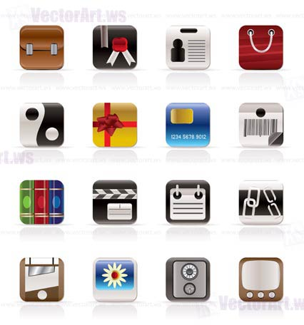 Business and Internet Icons - Vector Icon Set