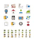 Internet, Computer and mobile phone icons - Vector icon set