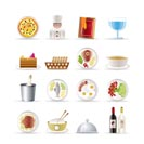 Restaurant, food and drink icons - vector icon set