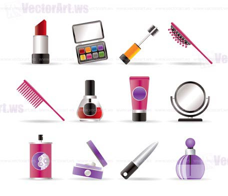 Realistic vector icon 4 - beauty,cosmetic and make-up icons - vector