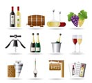 Wine and drink Icons - Vector Icon Set