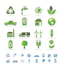 ecology and environment icons - vector icon set