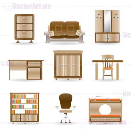 Cool Office Furniture Vector Free Vector  4Vector