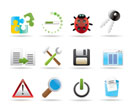 developer, programming and application icons - vector icon set