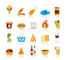 Shop and Foods Icons - Vector Icon Set