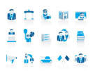 Politics, election and political party icons - vector icon set
