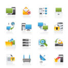Computer Network and internet icons - vector icon set