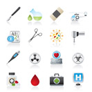 Medicine and hospital equipment icons - vector icon se