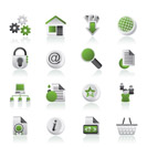 Website and internet icons - vector icon set