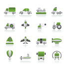 Different kind of transportation icons - vector icon set