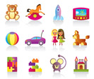 "Various children""s toys - vector illustration"
