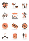 Confectionery, restaurant and club icons - vector illustration