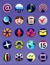 Smartphone and GSM  menu icons set - vector illustration