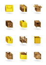 Package icons set - vector illustration