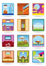 Home and gerden furniture icon set - vector illustration