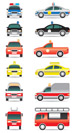 Special purpose cars - vector illustration