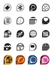 Simple phone  performance, internet and office icons - vector Icon Set