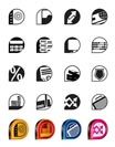 Simple bank, business, finance and office icons - vector icon set