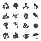 Silhouette Business and office  Icons  vector icon set