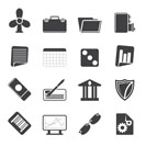 Silhouette Business and Office Icons - Vector Icon Set 2