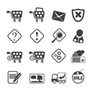 Silhouette Online Shop Icons - Vector Icon Set