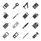 Silhouette Simple Vector Object Icons - Vector Icon Set