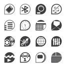 Silhouette Mobile phone  performance, internet and office icons - vector Icon Set