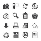Silhouette Simple Internet and Website Icons - Vector Icon Set