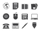Silhouette Business and Office tools icons  vector icon set 2