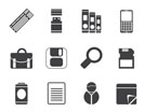 Silhouette Business and Office tools icons - vector icon set 3