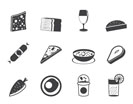 Silhouette Shop, food and drink icons 2 - vector icon set