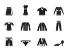 Silhouette Clothing Icons - Vector Icon Set