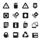 Silhouette Web site and computer Icons - vector icon set