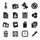 Silhouette Business and Office Icons - vectoSilhouette r icon set