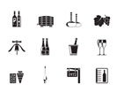 Silhouette Wine and drink Icons - Vector Icon Set