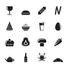 Silhouette shop, food and drink icons - vector icon set 2