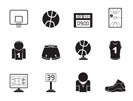 Silhouette Basketball and sport icons - vector Icon Set