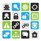 Silhouette Internet and web site icons - vector icon set