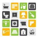 Silhouette Construction and building equipment Icons - vector icon set 2