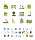 Print industry Icons - Vector icon set  - 3 colors included