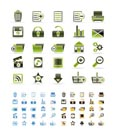 25 Detailed Internet Icons - Vector Icon Set  - 3 colors included
