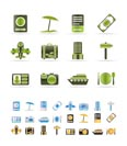 travel, trip and holiday icons - vector icon set  - 3 colors included