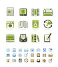 Media and information icons - Vector Icon Set  - 3 colors included