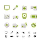 Media equipment icons - vector icon set - 2 colors included