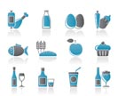 Food, drink and Aliments icons - vector icon set