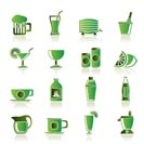 beverages and drink icons - vector  icon set