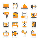 Hotel and Motel facilities icons - vector icon set