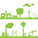 abstract ecology, industry and nature background - vector illustration