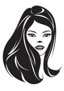Fashion girl with a new hairstyle - vector illustration