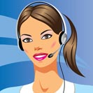 beautiful young woman with headphones - vector illustration